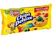 Keebler Chips Deluxe Cookies, Rainbow, M&M's - 11.3 oz tray