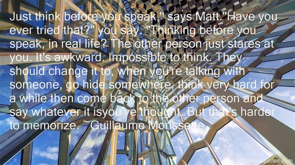 Thinking Before You Speak Quotes Best 1 Famous Quotes About