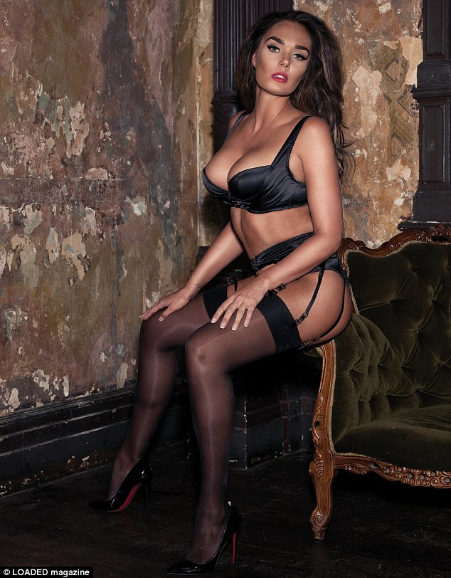 Simply stunning: Tamara Ecclestone spoke candidly about her life as she modelled her curves in some black lingerie