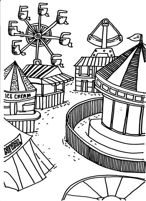fair coloring pages getcoloringpagescom