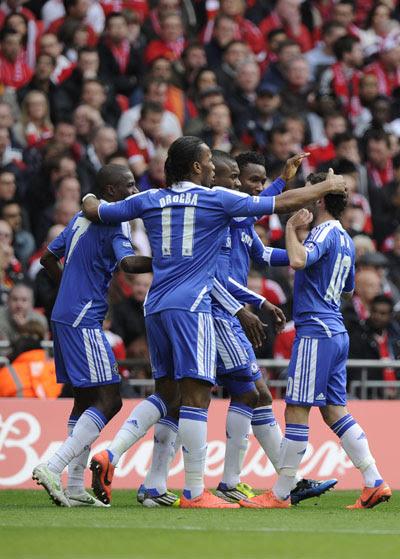 Foto Chelsea Juara FA Cup