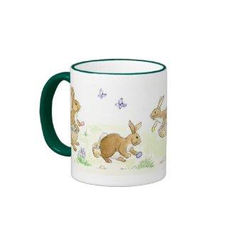 Easter Bunnies Ringer Mug mug
