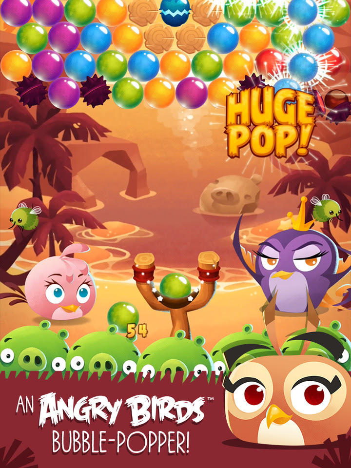 Angry Birds POP Bubble Shooter v1.6.4 Mod [Unlimited Gold/Lives]
