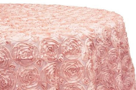 Table Cloth 120   Blush (Satin Rosette Round)   Linens and