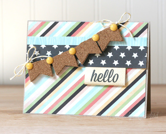 Fancy Pants cork arrows card by Kimberly Crawford