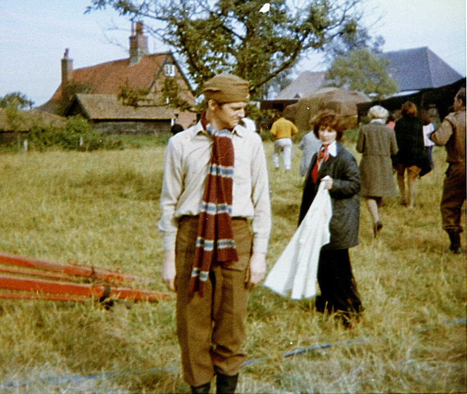 Ian Lavender, who was made famous by his portrayal of the gormless Private Pike, is pictured onWalnut Tree Farm, Bressingham