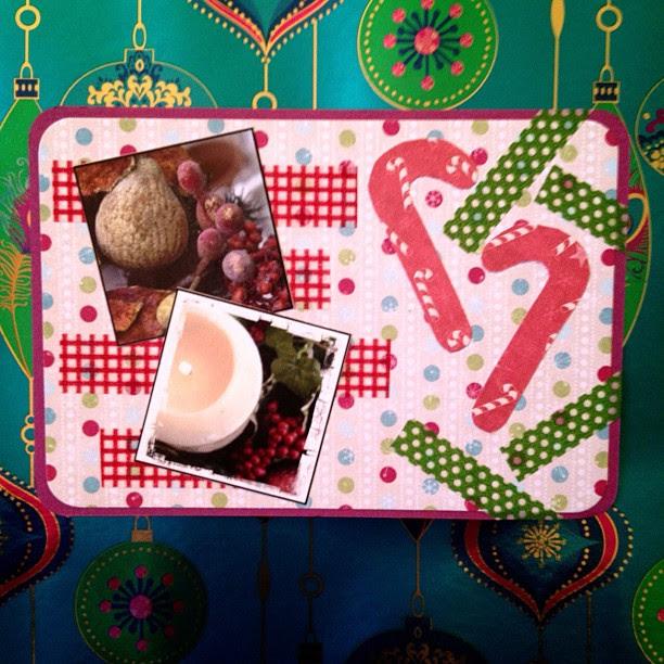 #christmas #candycane #washitape #candles #postcard #snailmail