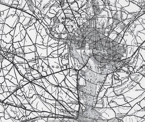 Bicycle Map, 1896 (Detail)