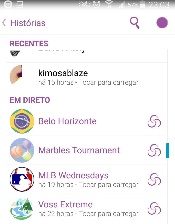 Snapchat destacando Belo Horizonte