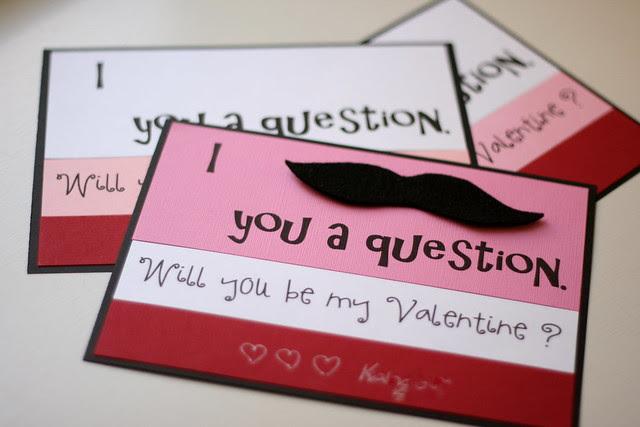 Valentine Mustache Cards