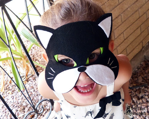 Cat Mask pattern cute felt play dress up halloween costume black cat 2 copy
