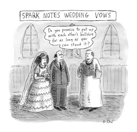 Spark Notes Marriage Vows    A Minister Says Drawing by