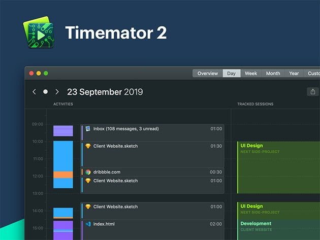 Timemator 2: Automatic Time Tracking App (Lifetime) for $23