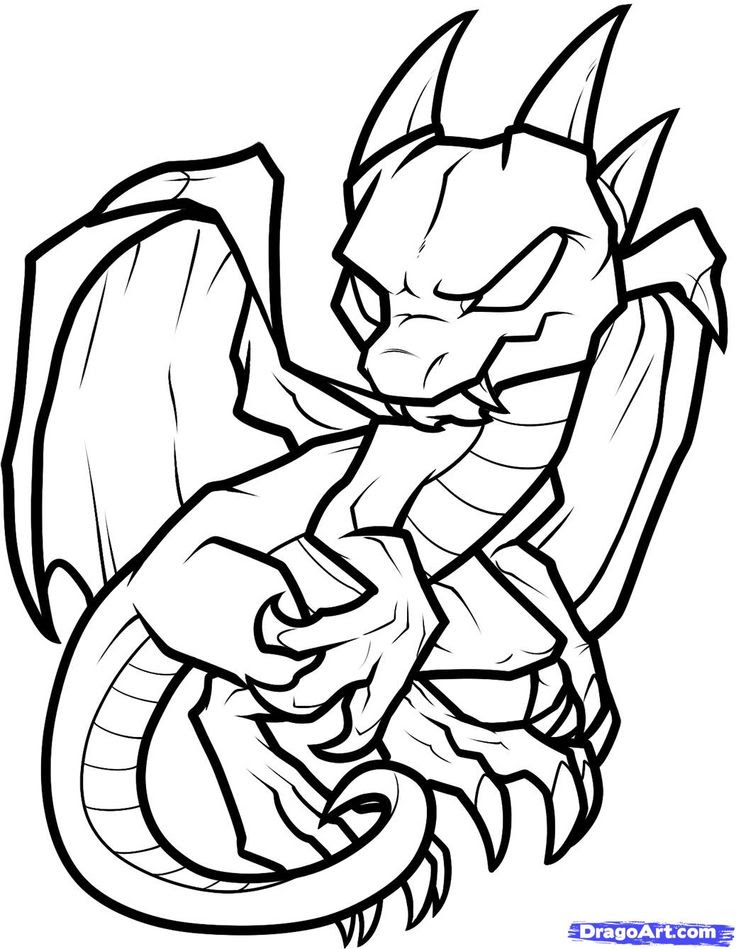 Dragon Pictures To Color Carinewbi