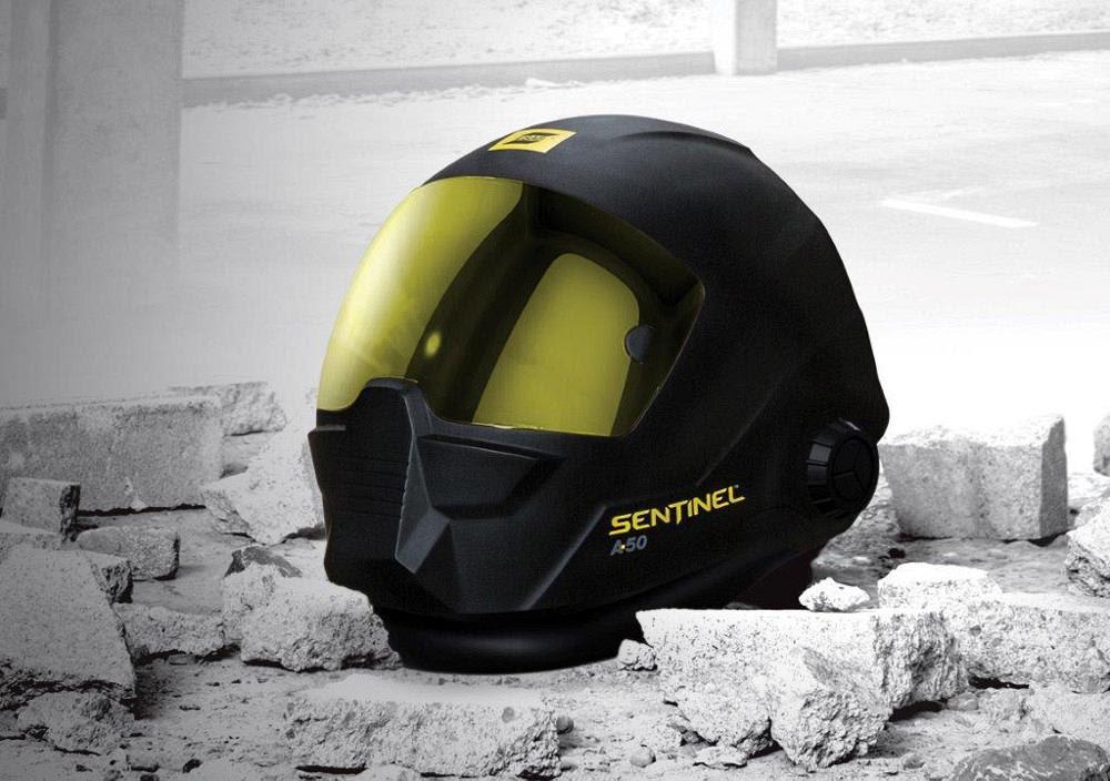 Welding helmet is infinitely adjustable with five contact ...