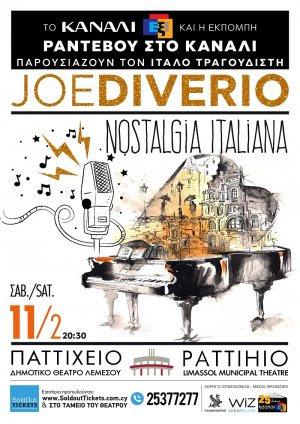 "Cyprus : Joe Diverio ""Nostalgia Italiana"""