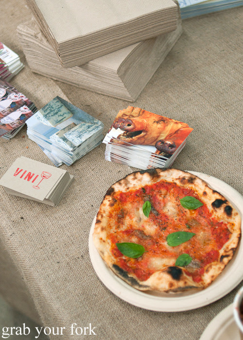 Woodfired pizza by Vini at the Sunday Marketplace, Rootstock Sydney 2014