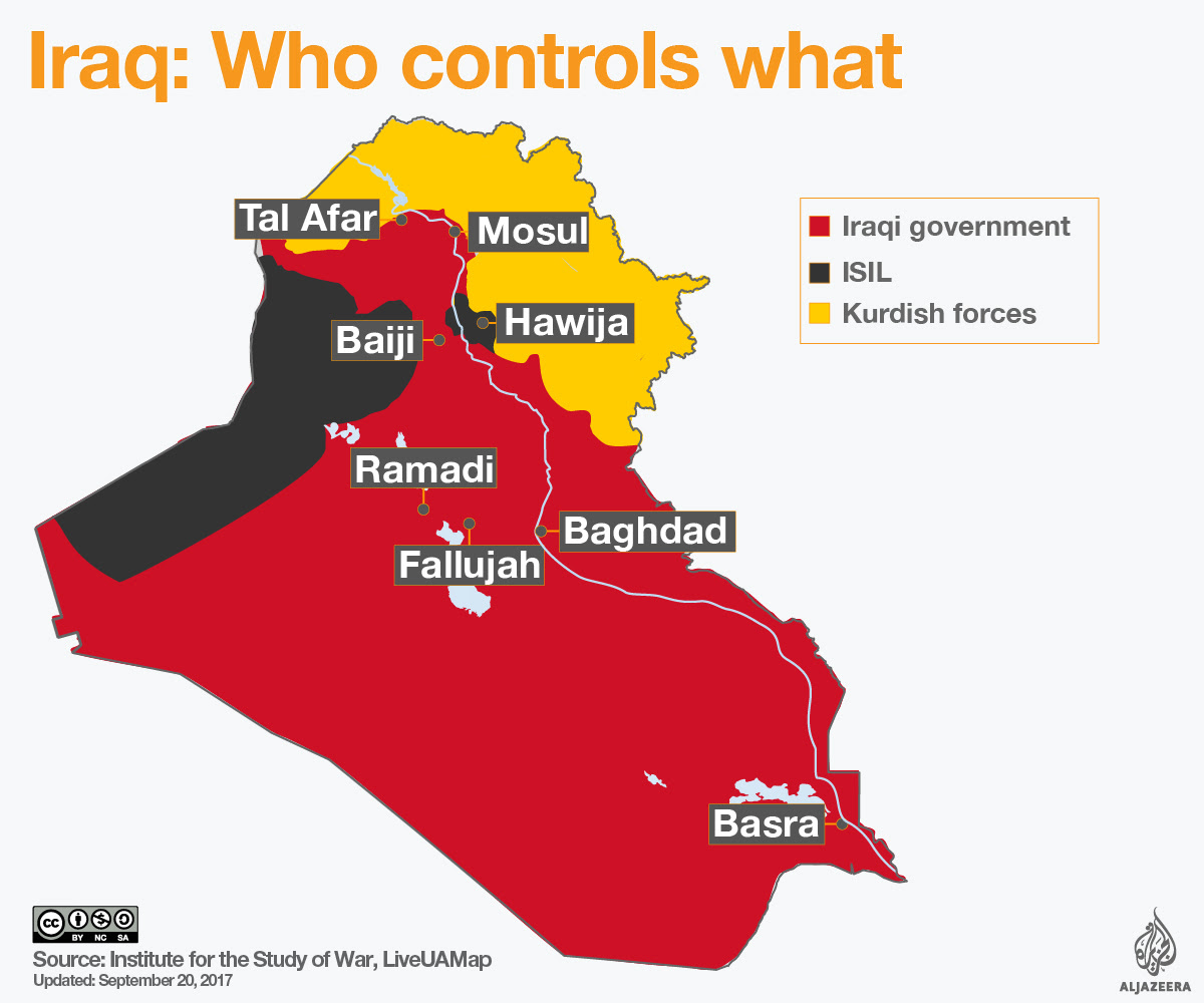 Iraq control map July 16