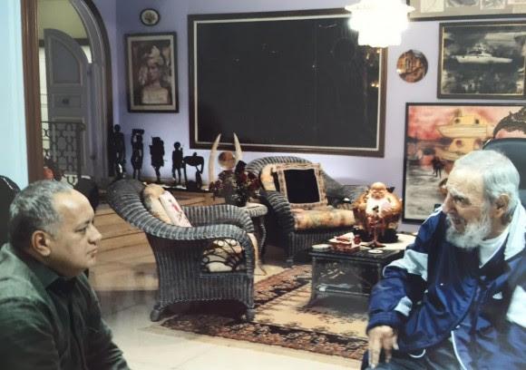 cuba, venezuela, fidel castro, lider historico de la revolucion cubana, diosdado cabello, psuv