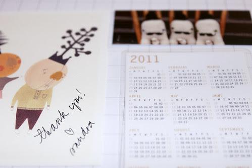Calendar and Greetings by Sandra Juto