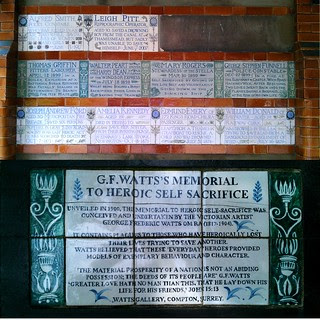 Postman's Park - Memorial to Heroic Self Sacrifice
