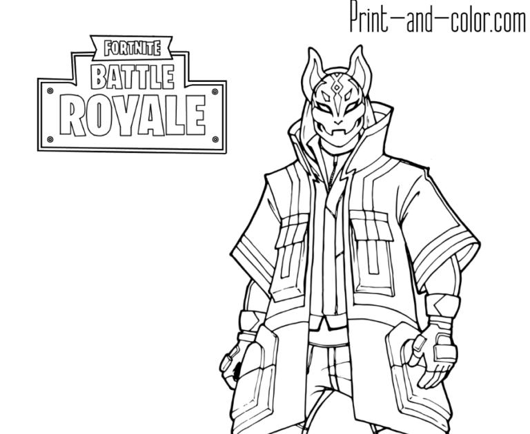 Fortnite Drift Skin Coloring Pages | Fortnite Generator Name