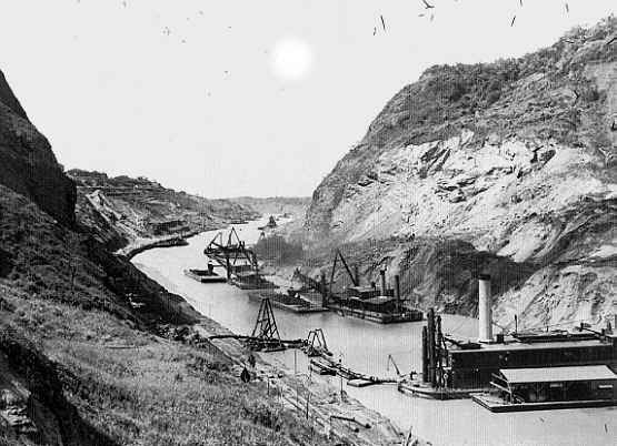 a history of the construction of the panama canal in 1880 Historystategov 30 shell  roosevelt on a digging machine during construction  of the panama canal, circa 1908 (library of  led by ferdinand de lesseps— the builder of the suez canal in egypt—the french began excavating in 1880.