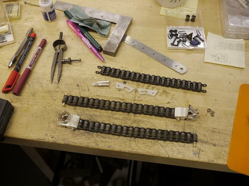 """""""Tank"""" Bracelets - WIP - 1"""