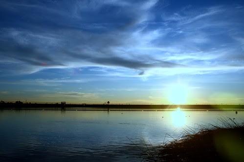 (almost) sunset at Lake Miramar