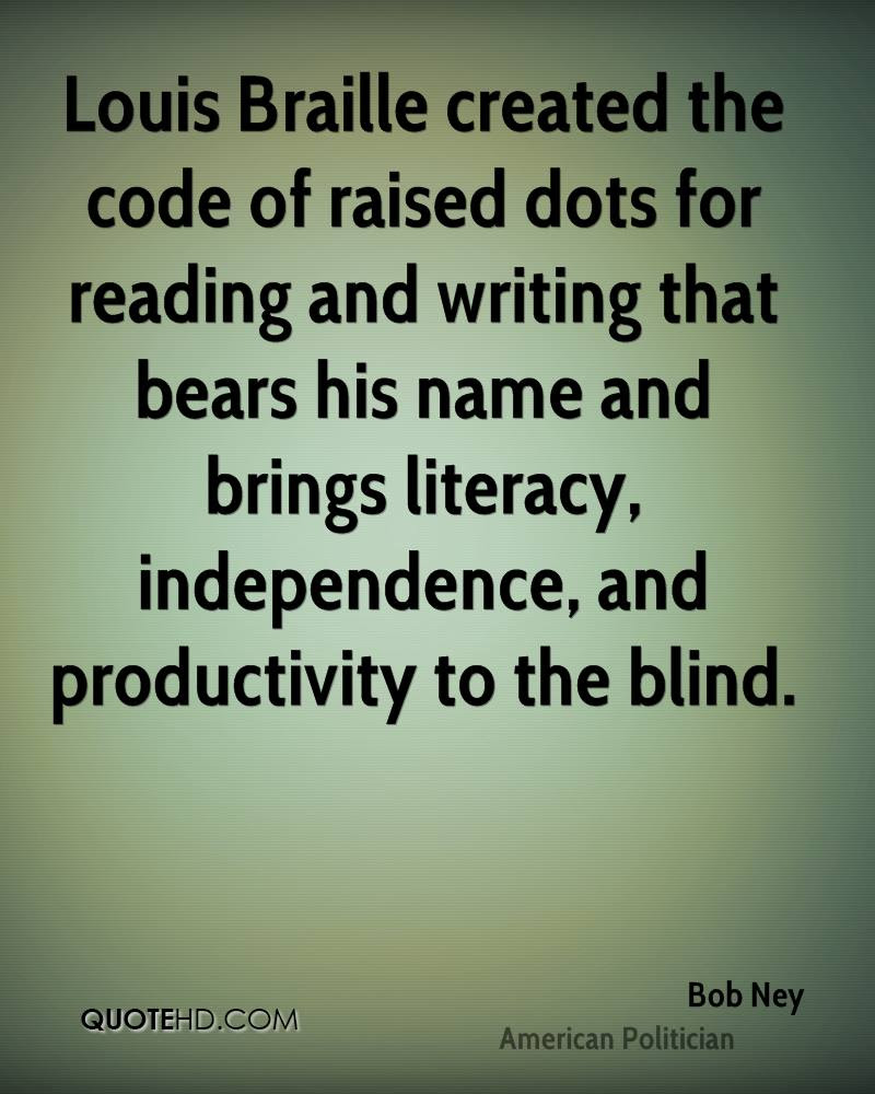 Louis Braille Quotes. QuotesGram