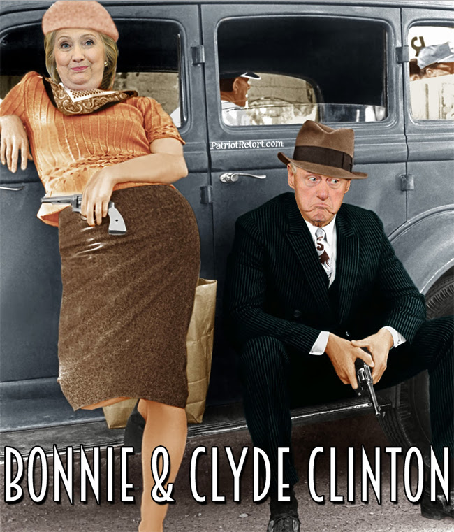 Image result for the clintons as bonnie and clyde