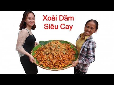 Bà Tân Vlog - Làm Nia Xoài Dầm Khô Gà Lá Chanh Siêu Cay Khổng Lồ
