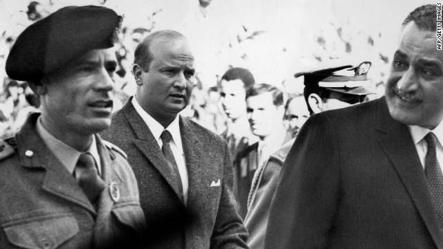 Kadafi ao longo dos anos