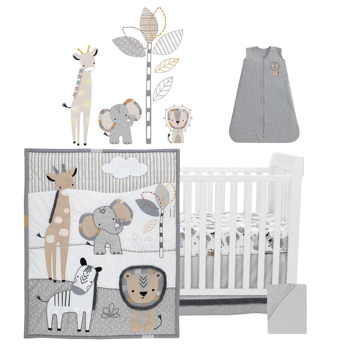 Jungle Safari 28-Piece Baby Crib Bedding Set