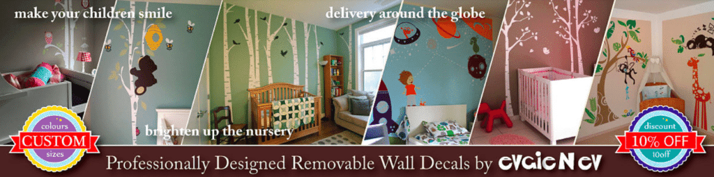 Win A $150 Evgie Wall Decals Gift Card + Easily Decorate Your Walls