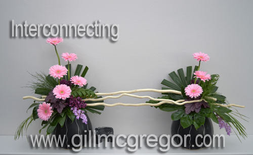 Free Flower Arranging Video Lesson 3 Time Lapse Interconnecting