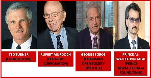 Ted Turner-Rupert Murdoch-Soros-Prince Alwaleed