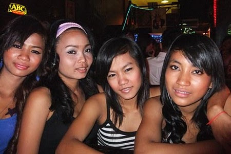 Cambodian girls at Martini