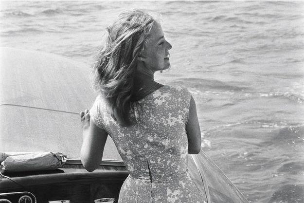Jeanne Moreau à Venise en 1958, pour la Mostra. Elle reçoit un prix d'interprétation pour «Les amants» de Louis Malle.