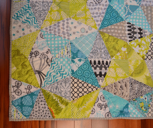Kaleidoscope Quilt - binding detail