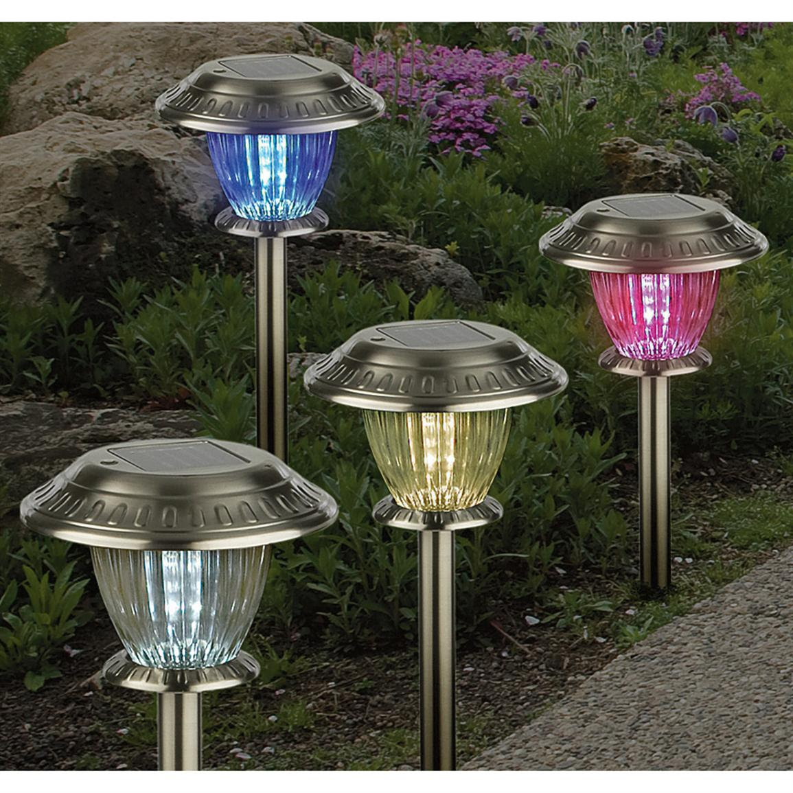 12  Pc. Color Changing Solar Lights Set  164812, Solar  Outdoor Lighting at Sportsmans Guide