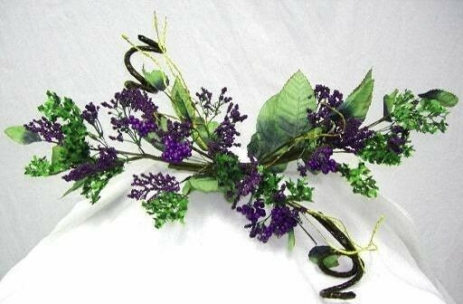 PURPLE Berry Swag Silk Wedding Flowers Centerpieces Arch Gazebo Decor  eBay