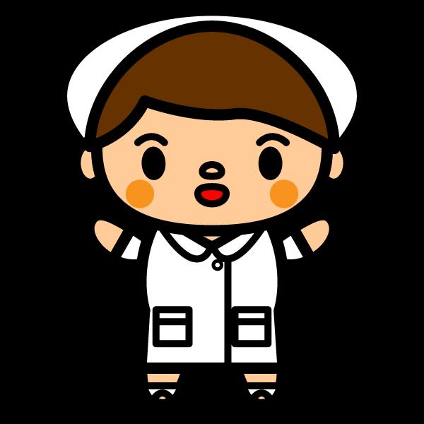 かわいい看護師看護婦の無料イラスト商用フリー オイデ43