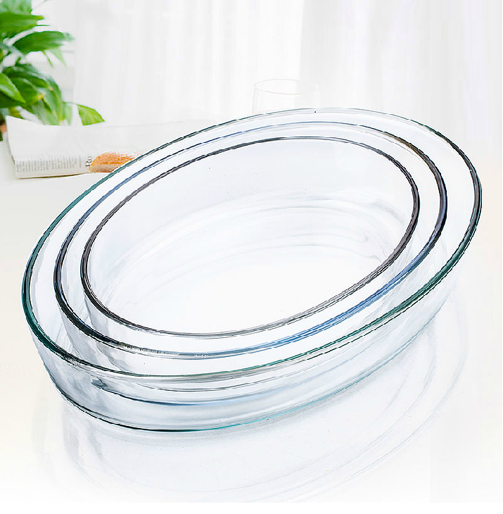 Heat Resistant Microwave Oven Pyrex Oval Glass Baking Dish ...