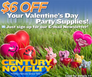 Valentine's Day Party Supplies at Century Novelty