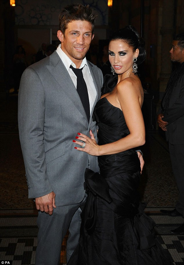 Past romance: Katie previously married cage fighter Alex Reid in 2010 but later split in 2012
