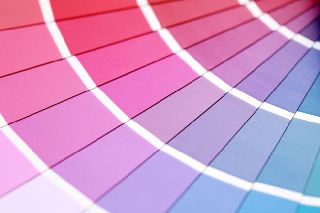 colored paper samples