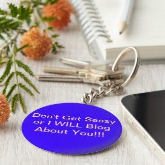 Purple Sassy Blogger Keychain