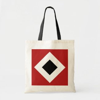 Red, White, Black Diamond Pattern Bags
