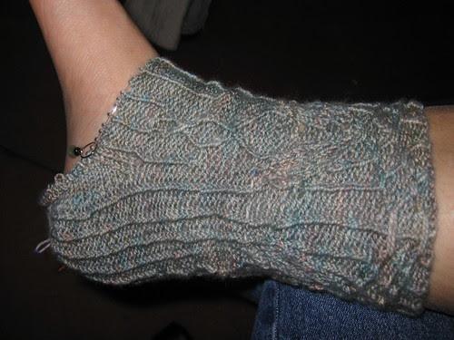 Rivendell socks, progressing